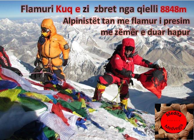 Në foto me flamur Fation PLAKU